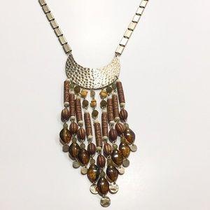 NWT Bohemian boho long beaded necklace
